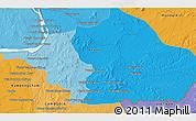 Political 3D Map of Phumĭ Kâmpóng Dâmrei