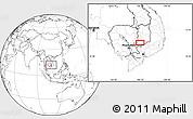 Blank Location Map of Phumĭ Kâmpóng Dâmrei