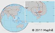 Gray Location Map of Phumĭ Kâmpóng Dâmrei