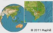Satellite Location Map of Phumĭ Kâmpóng Dâmrei