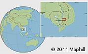 Savanna Style Location Map of Phumĭ Kâmpóng Dâmrei