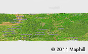 Satellite Panoramic Map of Phumĭ Kon Krâpeu