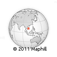 """Outline Map of the Area around 12° 11' 54"""" N, 107° 10' 30"""" E, rectangular outline"""