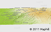 """Physical Panoramic Map of the area around 12°11'54""""N,107°10'30""""E"""