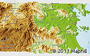 """Physical 3D Map of the area around 12°11'54""""N,108°52'30""""E"""
