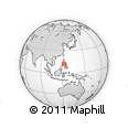 Outline Map of Philippines, rectangular outline