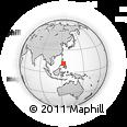 Outline Map of San Fernando, rectangular outline