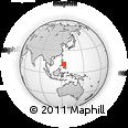 Outline Map of Masbate Island, rectangular outline