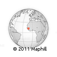 Outline Map of Manguel, rectangular outline
