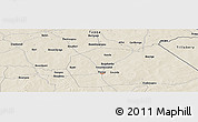 Shaded Relief Panoramic Map of Boundyani