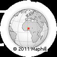 Outline Map of Monsey, rectangular outline