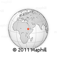 Outline Map of Ch'andiba, rectangular outline