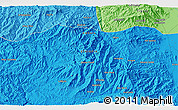 """Political 3D Map of the area around 12°11'54""""N,39°10'29""""E"""