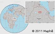Gray Location Map of Rare