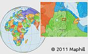 Political Location Map of Rare