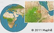 Satellite Location Map of Rare