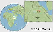 Savanna Style Location Map of Rare