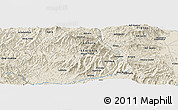 Shaded Relief Panoramic Map of Rare