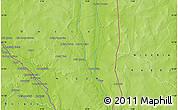 Physical Map of Goroubéri