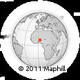Outline Map of Fakara Béri, rectangular outline
