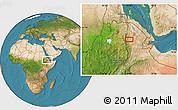 Satellite Location Map of K'obo