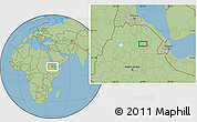 Savanna Style Location Map of K'obo