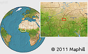 Satellite Location Map of Solenzo