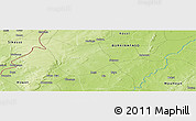 """Physical Panoramic Map of the area around 12°11'54""""N,4°10'30""""W"""