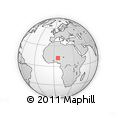 """Outline Map of the Area around 12° 11' 54"""" N, 6° 1' 30"""" E, rectangular outline"""