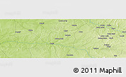 """Physical Panoramic Map of the area around 12°11'54""""N,6°1'30""""E"""