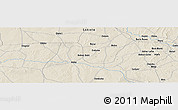 """Shaded Relief Panoramic Map of the area around 12°11'54""""N,6°1'30""""E"""