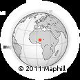 Outline Map of Tsafe, rectangular outline