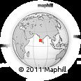 Outline Map of Kānnangād, rectangular outline