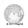 Outline Map of Mekeri, rectangular outline