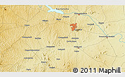 """Physical 3D Map of the area around 12°11'54""""N,76°34'29""""E"""