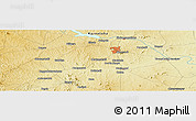 """Physical Panoramic Map of the area around 12°11'54""""N,76°34'29""""E"""