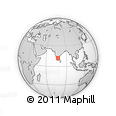 Outline Map of Hanūr, rectangular outline