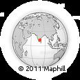 Outline Map of Viluppuram, rectangular outline