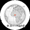 Outline Map of Baban Duhu, rectangular outline