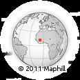 Outline Map of Diban, rectangular outline