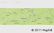 """Physical Panoramic Map of the area around 12°11'54""""N,7°34'30""""W"""