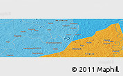 """Political Panoramic Map of the area around 12°11'54""""N,7°34'30""""W"""