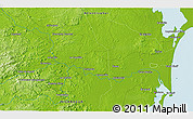 """Physical 3D Map of the area around 12°11'54""""N,84°4'29""""W"""