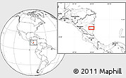 """Blank Location Map of the area around 12°11'54""""N,84°4'29""""W"""