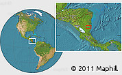 """Satellite Location Map of the area around 12°11'54""""N,84°4'29""""W"""