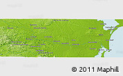 """Physical Panoramic Map of the area around 12°11'54""""N,84°4'29""""W"""