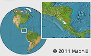 """Satellite Location Map of the area around 12°11'54""""N,84°55'30""""W"""
