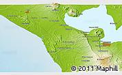 Physical 3D Map of La Paz Vieja