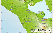 """Physical Map of the area around 12°11'54""""N,86°37'30""""W"""