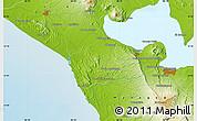 Physical Map of La Paz Vieja